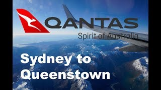 Qantas 737-838 Sydney to Queenstown