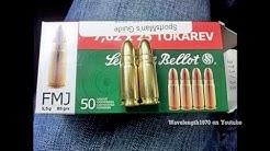 Ammo penetration test, 9mm vs 7.62x25 Tokarev. Bullet resistant composite target