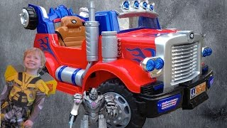Ride On Optimus Prime Truck - Unboxed & Reviewed With Transformer BumbleBee!