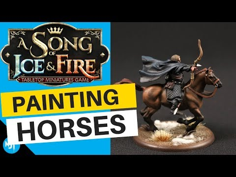 How To Paint Horse Miniatures | Song Of Ice And Fire Miniatures Game