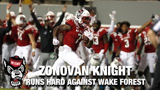 NC State RB Zonovan Knight Runs Hard Against Wake Forest