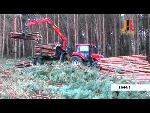 Прицеп-лесовоз с манипулятором Pronar