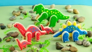 How To Make 3D  Dinosaur Birthday Cookies