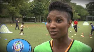 Denise Lewis supports FA Tesco Skills