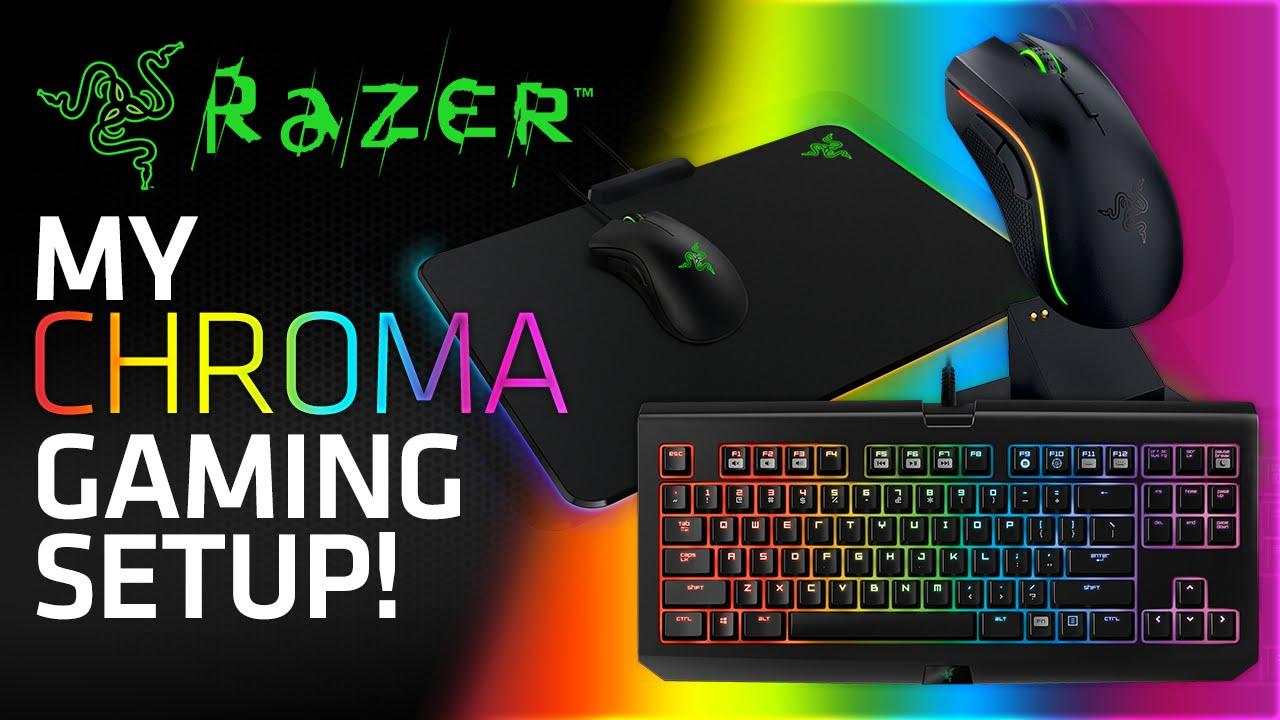 My Razer Chroma Gaming Setup! (BlackWidow Tournament Edition, Mamba  Wireless & Firefly Mouse Mat)