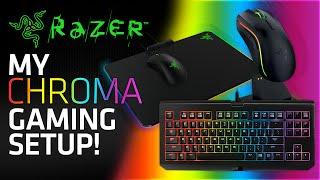my razer chroma gaming setup blackwidow tournament edition mamba wireless firefly mouse mat
