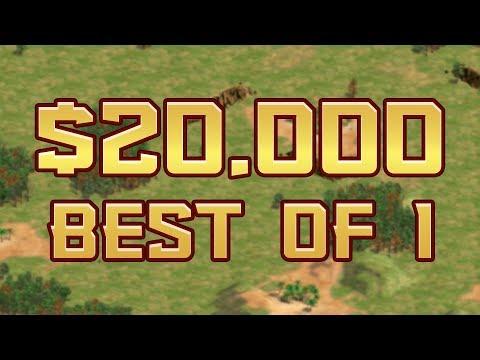 1v1 FOR $20K! - AoE2 in 2001