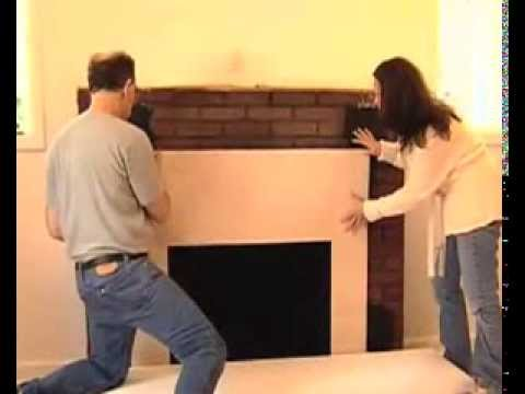 How to Install a Surround Facing Kit in Fireplace Mantels  Home Remodel  YouTube