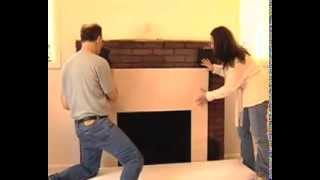 How To Install A Surround Facing Kit In Fireplace Mantels - Home Remodel