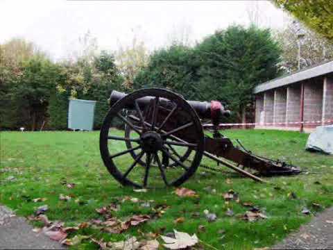 Real 18lb black powder cannon fireing down range boooomm 2009