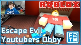 NO MAS VIDEOS DE JUEGOS DE YOUTUBE NUNCA!!! Roblox Escape Evil YouTubers Obby de The Pals