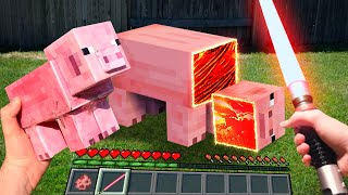 Minecraft in Real Life POV 創世神第一人稱真人版  Realistic Minecraft vs Real Life Texture Pack