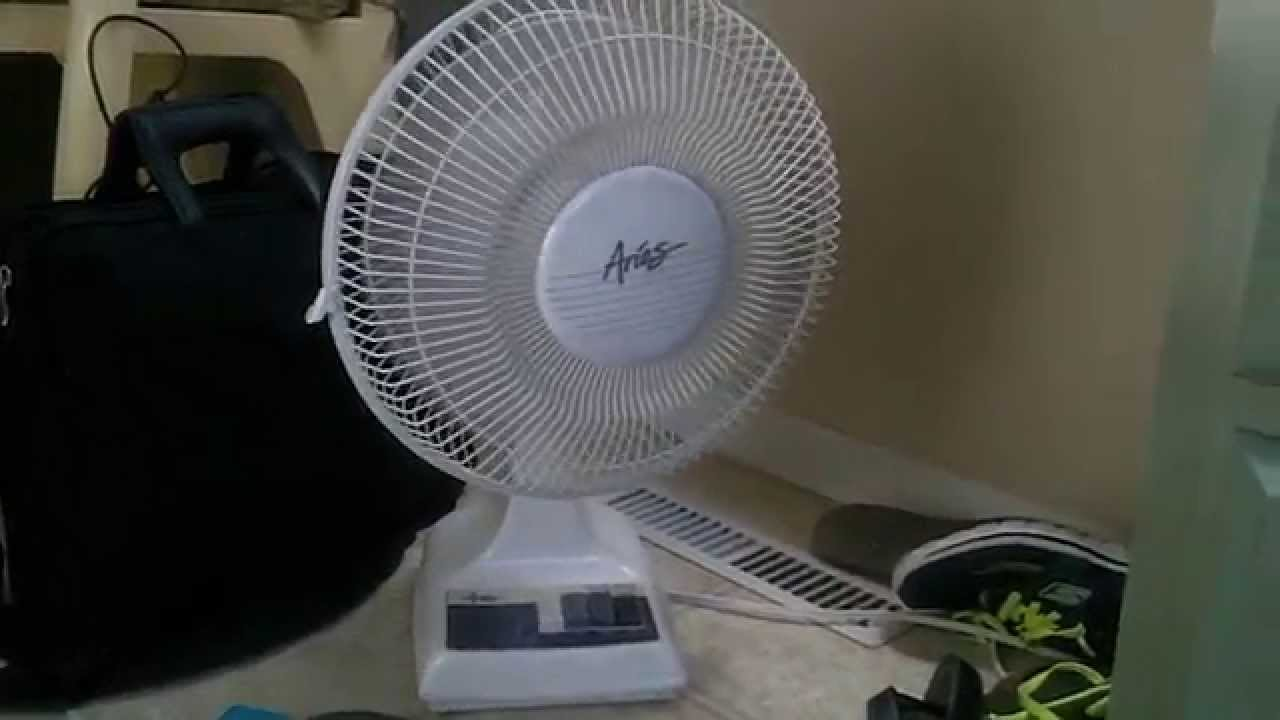 12 Quot Aries Oscillating Desk Fan Youtube