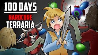 100 Days in Hardcore Terraria | HappyDays
