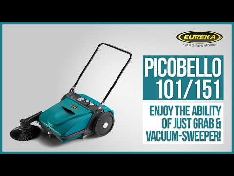Manual Sweeper Eureka Picobello | The Only Push Sweeper With Patented Dust Control System.
