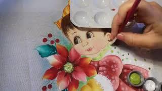 Pintura em Tecido – Aprenda Pintar Flor de Natal e Cachecol