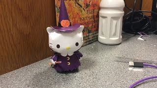Papercraft Halloween Hello Kitty as a Witch