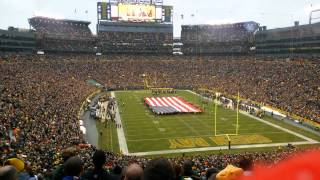 National Anthem at Lambeau Field 11/16/14