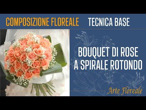 Tutorial Bouquet Sposa.Bouquet A Spirale Rotondo Mazzo Formale Con Gambi A Vista Da Sposa