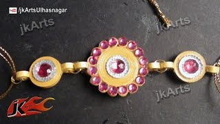 DIY How to make Paper Quilling rakhi for Raksha Bandhan -  JK Arts 563