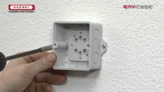 DK-Wandbefestigung über außenliegende Befestigung / Wall fixing via external brackets