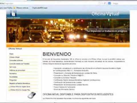 Certificacion del nit por oficina virtual youtube for Oficina virtual impuestos