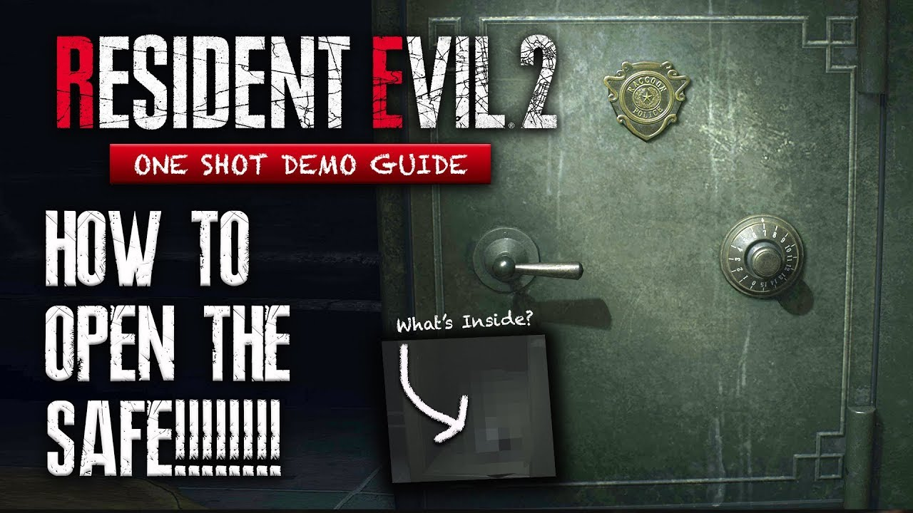 How To Open The Safe In Resident Evil 2 Remake One Shot Demo West Office Re2 Walkthrough Youtube