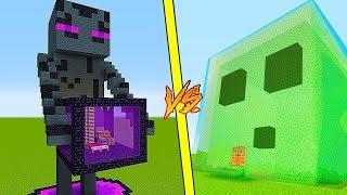 ДОМ ВНУТРИ ЭНДЕРМЕН ПРОТИВ ДОМА СЛИЗНЬ В Майнкрафте! Minecraft Мультики Майнкрафт троллинг Нуб и Про