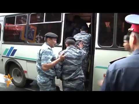 Kazakh Police Detain Anti-Corruption Protesters