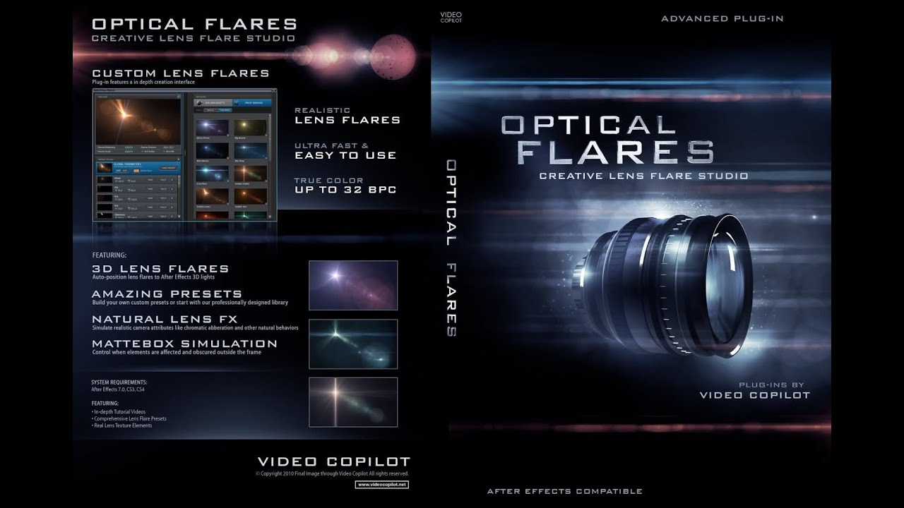 how to add lens flare in after effects cs6