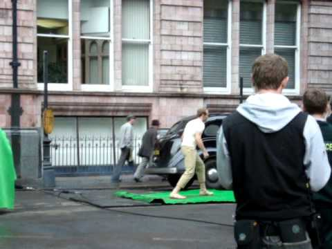 Captain America, Stunt filming for 2011 film (Manchester)