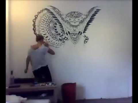 elephant wall art painting youtube. Black Bedroom Furniture Sets. Home Design Ideas