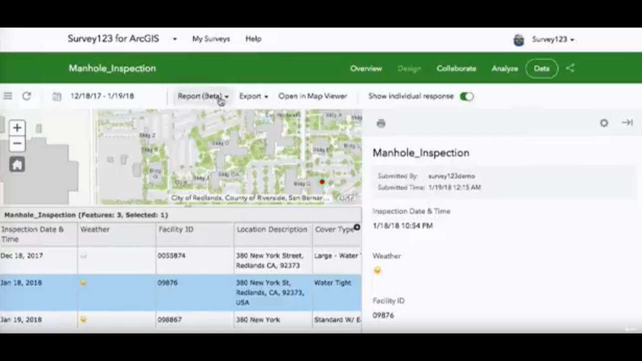 Using the Survey123 Reporting API to Print Survey Records