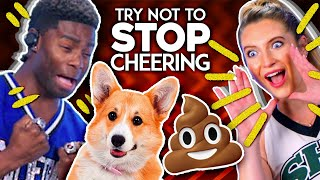 Try Not To Stop Cheering Challenge | Cheerleaders Really Cheered For THAT?