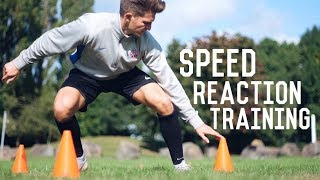 Individual Speed Reaction Training Session | 3 Football Training Drills To Sharpen Reactions