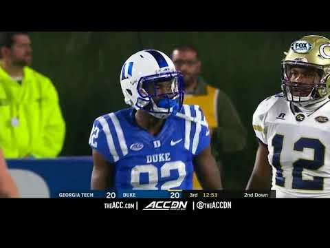 Georgia Tech vs Duke College Football Condensed Game 2017