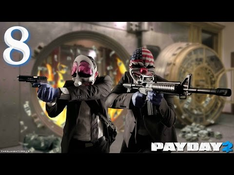 Payday 2: Episode 8 - Transport Crossroads and Bank Heist Cash | Let's Play