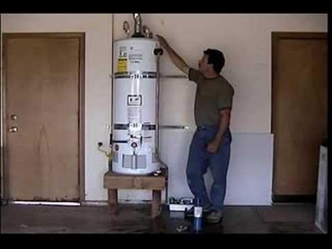 Luxury Hot Water Heater In Garage
