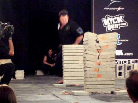 Karate U.S. Open Breaking 15 Concrete Slabs.