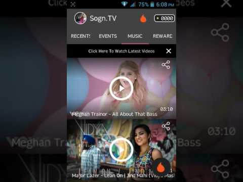 Sogn tv app 500 point per refer reedem as paytm,