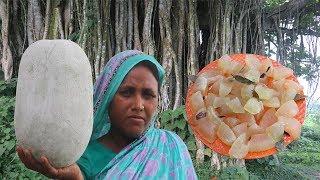 Bengali Cooking Chal Kumrar Murobba Recipe YUMMY & TASTY Farm Fresh Winter Melon Candy Village Food