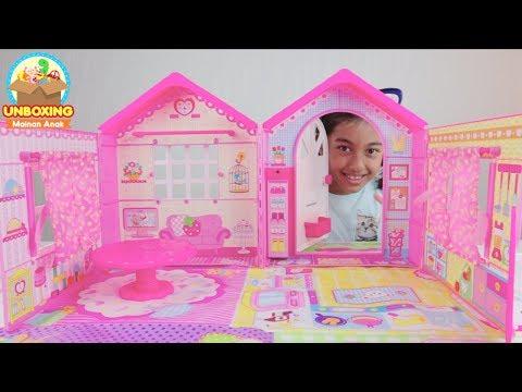 Unboxing Rumah Boneka Mell Chan Super Besar & Super Cute! Mell Chan Doll House Mainan Anak Perempuan