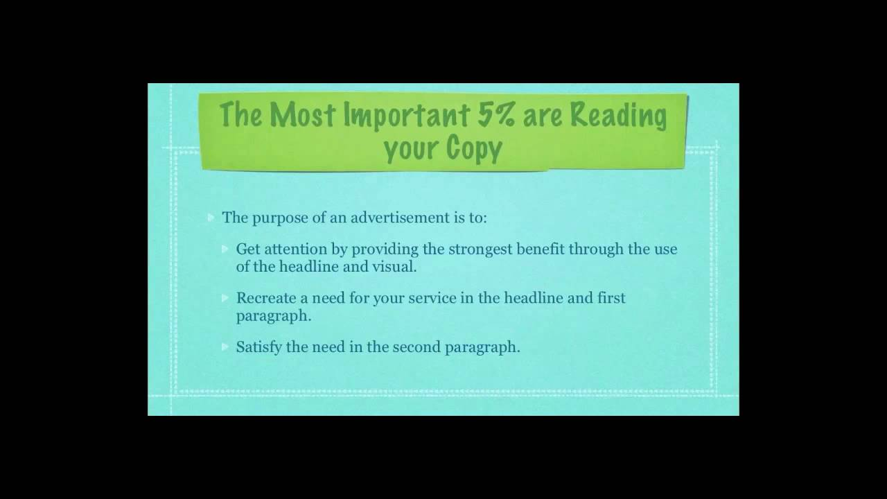 marketing examples writing copy pt 2 youtube