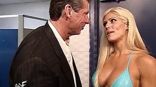 NEW WWE Sexiest Moments!! Hot Candice Michelle and Vince McMahon Backstage Sexy Romance Boobs Press