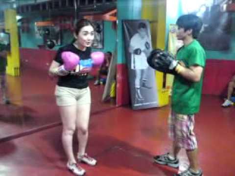 Angelica Jones in Boxing Exercise