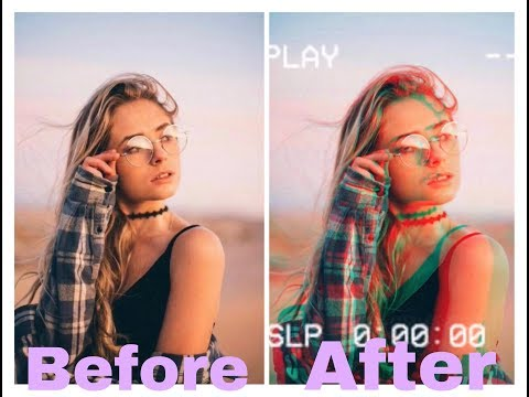 Retro VHS Effect and Glitch Effect tutorial on PicsArt!!