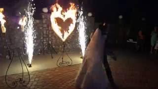 Огненное сердце на свадьбу.