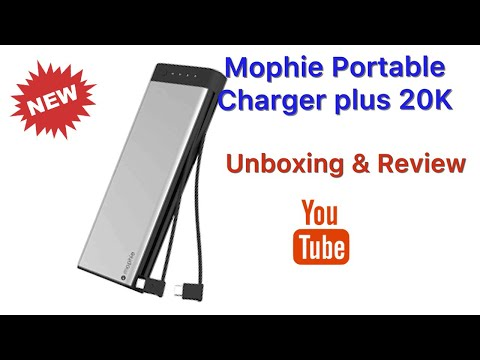Mophie portable charger plus 20k REVIEW