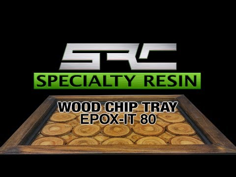 Wood chip in tray using epoxy resin epox-it 80