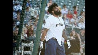 Ezekiel Elliott at bat during Dallas Cowboys home run derby